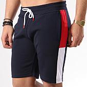 /achat-shorts-jogging/lbo-short-jogging-poly-392-bleu-marine-bandes-rouge-blanc-128413.html