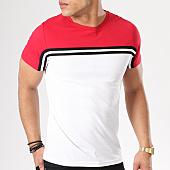 /achat-t-shirts/lbo-tee-shirt-avec-bandes-400-rouge-blanc-128415.html