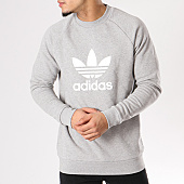/achat-sweats-col-rond-crewneck/adidas-sweat-crewneck-trefoil-cy4573-gris-chine-129238.html