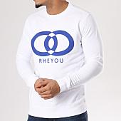 /achat-sweats-col-rond-crewneck/rheyou-sweat-crewneck-rheyou-blanc-129484.html