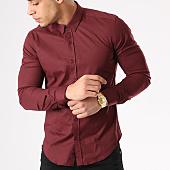 /achat-chemises-manches-longues/lbo-chemise-manches-longues-slim-fit-401-bordeaux-129494.html