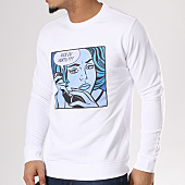 /achat-sweats-col-rond-crewneck/swift-guad-sweat-crewneck-pop-art-blanc-129490.html