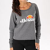 /achat-sweats-col-rond-crewneck/ellesse-sweat-crewneck-femme-cropped-gris-anthracite-chine-129627.html