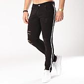 /achat-jeans/john-h-jean-slim-dechire-avec-bandes-a297-noir-129984.html
