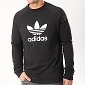 /achat-sweats-col-rond-crewneck/adidas-sweat-crewneck-trefoil-cw1235-noir-blanc-130197.html