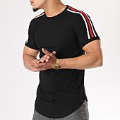 /achat-t-shirts-longs-oversize/john-h-tee-shirt-oversize-avec-bandes-1803-noir-130319.html