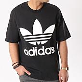 adidas - Tee Shirt Oversize CW1211 Noir Blanc 6d9de3e3047