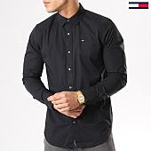 /achat-chemises-manches-longues/tommy-hilfiger-jeans-chemise-manches-longues-tjm-original-stretch-4405-noir-130495.html