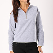 /achat-sweats-col-rond-crewneck/girls-only-sweat-crewneck-bandes-brodees-femme-b867-gris-chine-130925.html
