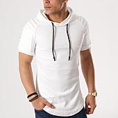 /achat-t-shirts-longs-oversize/john-h-tee-shirt-capuche-oversize-velours-510-blanc-131285.html