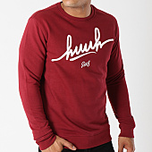 /achat-sweats-col-rond-crewneck/kpoint-sweat-crewneck-huuh-logo-bordeaux-131553.html