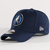 /achat-casquettes-de-baseball/new-era-casquette-the-league-nba-minnesota-timberwolves-bleu-marine-131421.html