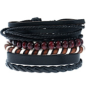 /achat-bracelets/california-jewels-lot-de-5-bracelets-city-noir-marron-131659.html