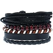 /achat-bracelets/california-jewels-lot-de-5-bracelets-city-noir-marron-131659.html