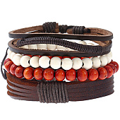 /achat-bracelets/california-jewels-lot-de-3-bracelets-shore-marron-blanc-rouge-131664.html