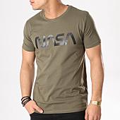 /achat-t-shirts/nasa-tee-shirt-worm-logo-vert-kaki-132310.html