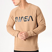 /achat-sweats-col-rond-crewneck/nasa-sweat-crewneck-worm-logo-camel-132341.html