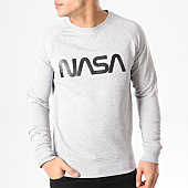 /achat-sweats-col-rond-crewneck/nasa-sweat-crewneck-worm-logo-gris-chine-132343.html