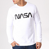 /achat-sweats-col-rond-crewneck/nasa-sweat-crewneck-worm-logo-blanc-132345.html