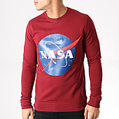 /achat-sweats-col-rond-crewneck/nasa-sweat-crewneck-insignia-front-bordeaux-132354.html