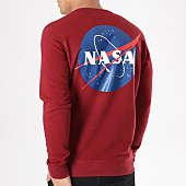 /achat-sweats-col-rond-crewneck/nasa-sweat-crewneck-insignia-bordeaux-132356.html