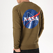/achat-sweats-col-rond-crewneck/nasa-sweat-crewneck-insignia-vert-kaki-132357.html