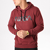 /achat-sweats-capuche/nasa-sweat-capuche-worm-logo-bordeaux-132363.html