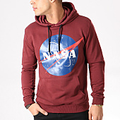 /achat-sweats-capuche/nasa-sweat-capuche-insignia-front-bordeaux-132373.html