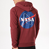 /achat-sweats-capuche/nasa-sweat-capuche-insignia-bordeaux-132380.html