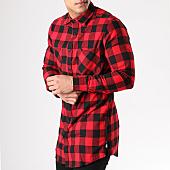 /achat-chemises-manches-longues/urban-classics-chemise-manches-longues-oversize-zip-tb1001-rouge-carreaux-noir-132419.html