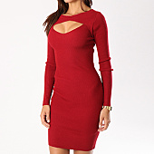 /achat-robes/urban-classics-robe-manches-longues-femme-tb1742-bordeaux-132506.html