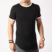 /achat-t-shirts-longs-oversize/john-h-tee-shirt-oversize-avec-bandes-1837-noir-133534.html