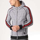 /achat-vestes/project-x-veste-zippee-capuche-avec-bandes-88183323-noir-blanc-133470.html