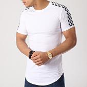 /achat-t-shirts-longs-oversize/john-h-tee-shirt-oversize-avec-bandes-damier-1869-blanc-133731.html