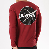 /achat-t-shirts-manches-longues/nasa-tee-shirt-manches-longues-insignia-desaturate-bordeaux-133649.html