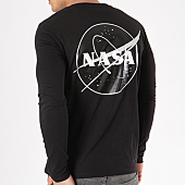 /achat-t-shirts-manches-longues/nasa-tee-shirt-manches-longues-insignia-desaturate-noir-133654.html