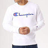 /achat-sweats-col-rond-crewneck/champion-sweat-crewneck-210975-blanc-134227.html