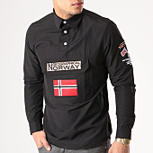 /achat-chemises-manches-longues/geographical-norway-chemise-manches-longues-patchs-brodes-zeclass-noir-134039.html
