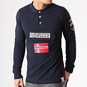 /achat-polos-manches-longues/geographical-norway-polo-manches-longues-patchs-brodes-kiclass-bleu-marine-134138.html
