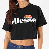 /achat-t-shirts/ellesse-tee-shirt-crop-femme-alberta-noir-134495.html