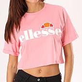 /achat-t-shirts/ellesse-tee-shirt-crop-femme-alberta-rose-134504.html