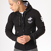 /achat-sweats-zippes-capuche/geographical-norway-sweat-zippe-capuche-patchs-brodes-gampai-noir-blanc-134394.html