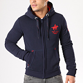 /achat-sweats-zippes-capuche/geographical-norway-sweat-zippe-capuche-patchs-brodes-gampai-bleu-marine-rouge-134397.html