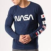 /achat-t-shirts-manches-longues/nasa-tee-shirt-manches-longues-flags-bleu-marine-134603.html