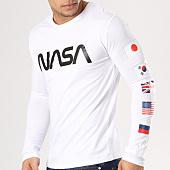 /achat-t-shirts-manches-longues/nasa-tee-shirt-manches-longues-flags-blanc-134605.html