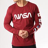 /achat-t-shirts-manches-longues/nasa-tee-shirt-manches-longues-flags-bordeaux-134607.html