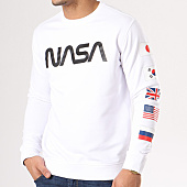 /achat-sweats-col-rond-crewneck/nasa-sweat-crewneck-flags-blanc-134609.html