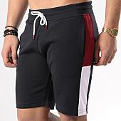 /achat-shorts-jogging/lbo-short-jogging-poly-433-noir-bandes-blanc-et-bordeaux-134765.html