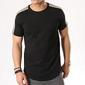 /achat-t-shirts-longs-oversize/gov-denim-tee-shirt-oversize-avec-bandes-181003-noir-beige-134923.html