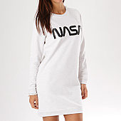 /achat-robes/nasa-robe-sweat-femme-worm-logo-gris-clair-chine-135111.html